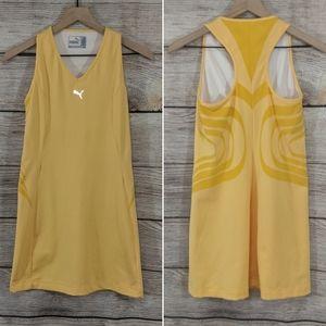 Puma yellow tennis racerback dress w/ built in bra